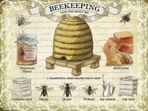 Beekeeping Metal Wall Sign (4 sizes)