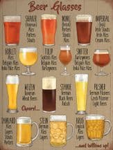 Beer Glasses Metal Wall Sign (4 sizes)
