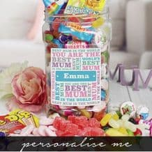 Best Mum Sweet Jar - Medium