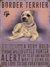 Border Terrier Metal Wall Sign (4 sizes)