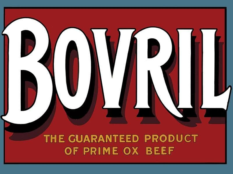 Bovril Metal Wall Sign | Vintage Advertising signs | Kitchen wall art ideas