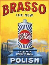 Brasso Vintage Advertising Metal Wall Sign (4 sizes)