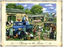 British Farmers Blue Pick up Metal Wall Sign (4 sizes)