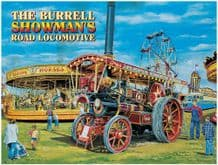 Burrell Showman Steam Engine Metal Wall Sign (4 sizes)