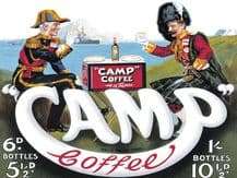 Camp Coffee Metal Wall Sign (4 sizes)