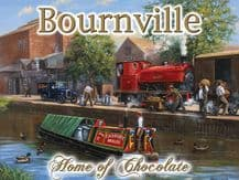 Canal Barge at Bournville  Metal Wall Sign (3 sizes)
