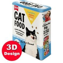 Cat Food - Embossed Storage Tin