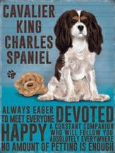 Cavalier King Charles Metal Wall Sign (4 sizes)