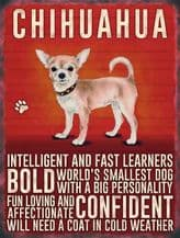 Chihuahua Metal Wall Sign (4 sizes)