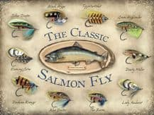 Classic Salmon Fly Metal Wall Sign (3 sizes)