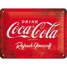 Coca Cola 3D Metal Wall Sign (Small)