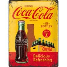 Coca Cola Bottle 3D Metal Wall Sign