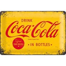 Coca Cola Yellow Sign 3D Metal Wall Sign
