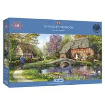 Cottage By The Brook- 636 Piece Jigsaw Puzzle