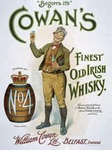 Cowan's Irish Whisky Metal Wall Sign (3 sizes)