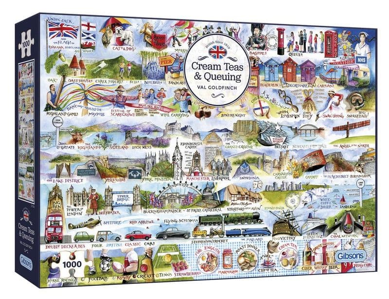 Cream Teas and Queuing 1000 Piece Jigsaw Puzzle | Gibsons Jigsaw Puzzles