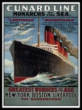 Cunard Line Monarchs of the Sea Metal Wall Sign (3 sizes)