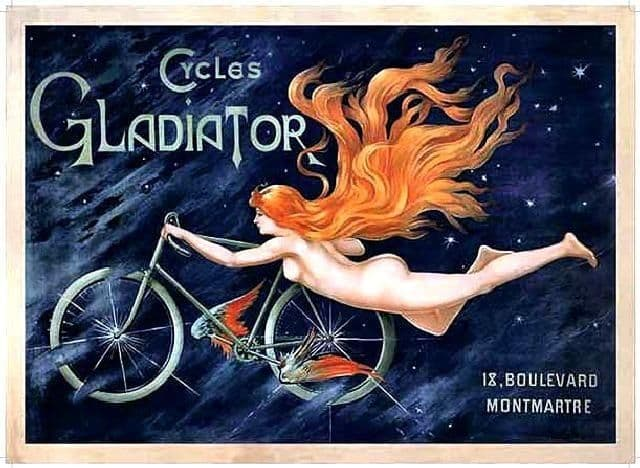 Cycles Gladiator Metal Wall Sign  | Vintage advertising Signs | Gifts for Cyclists