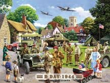 D-Day Landings Preparations Metal Wall Sign (4 sizes)