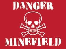 Danger Minefield Metal Wall Sign (4 sizes)