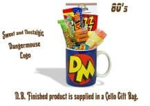 Dangermouse 'Logo' Mug jammed with/without a teatime selection of 80's themed sweets.