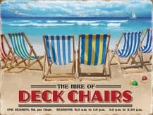 Deckchairs for Hire Metal Wall Sign (4 sizes)