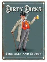 Dirty Dicks Pub Sign Metal Wall Sign (4 sizes)