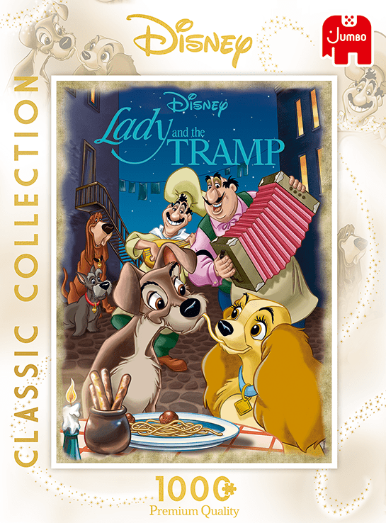 Disney's Lady and the Tramp 1000 Piece Jigsaw Puzzle | Disney Gifts For Adults | Jumbo