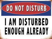 Do Not Disturb  Metal Wall Sign (4 sizes)