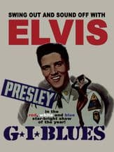 Elvis GI Blues Movie Poster Metal Wall Sign (3 sizes)