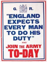 England Expects Metal Wall Sign (4 Sizes)