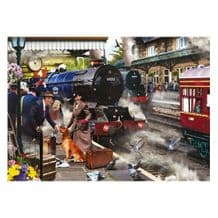 Falcon De Luxe Waiting On The Platform 1000 Piece Jigsaw Puzzle