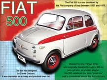 Fiat 500 Metal Wall Sign(4 sizes)
