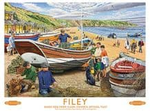 Filey Railway Poster Metal Wall Sign (4 sizes)