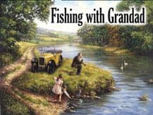 Fishing with Grandad Metal Wall Sign (3 sizes)