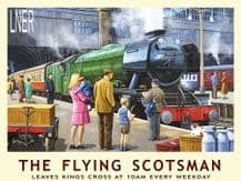 Flying Scotsman at Kings Cross Metal Wall Sign (4 sizes)