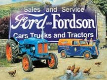 Ford and Fordson Trucks and Tractors Metal Wall Sign (3 sizes)