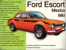 Ford Escort Mexico Metal Wall Sign (4 sizes)