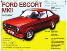 Ford Escort MkII Metal Wall Sign (4 sizes)