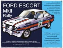 Ford Escort MkII Rally Metal Wall Sign (4 sizes)