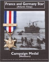 France and Germany Star (Mini War Medal)