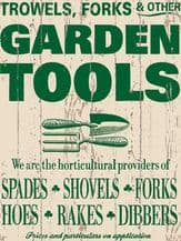 Garden Tools Metal Wall Sign (4 sizes)