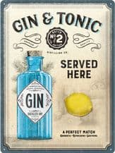 Gin and Tonic 3D Metal Wall Sign