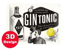 Gin and Tonic 3D Metal Wall Sign (Small)
