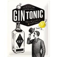 Gin and Tonic Time 3D Metal Wall Sign (Large)