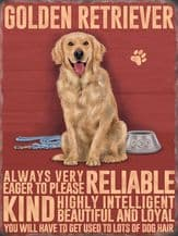 Golden Retriever Metal Wall Sign (4 sizes)