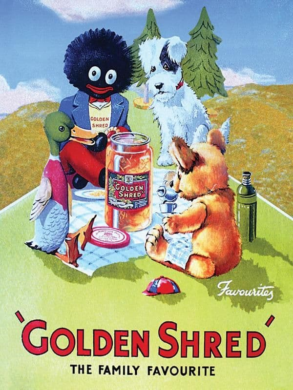 Golden Shred Metal Wall Sign   Robertson's Marmalade   Vintage Advertising sign