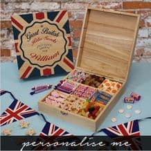 Great British Retro Wooden Sweet Box