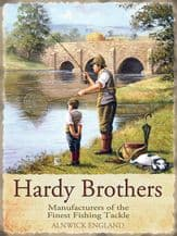 Hardy Brothers Fishing Tackle Metal Wall Sign (3 sizes)