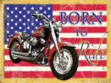 Harley Born to Ride Metal Wall Sign (4 sizes)
